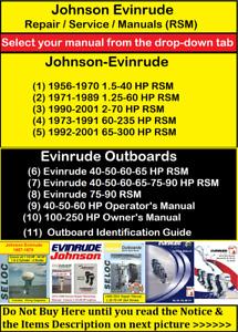 Johnson Evinrude Repair Service & Shop Manual