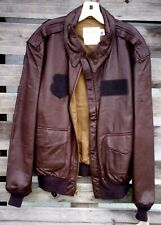 USAF ISSUE A-2 LEATHER FLIGHT JACKET SIZE 46L NWT