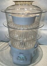 Deni Electric Food Steamer 3 Tier Model 7500 800w White