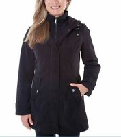 SALE! HFX Performance Women's Trench Coat Hooded Jacket Black Size XL |