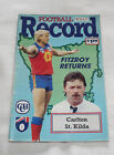 1991 AFL Football Record Carlton Blues v St Kilda Saints Vol.80 No.6
