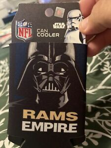 LOS ANGELES RAMS DARTH VADER 2 SIDED CAN BOTTLE COOZIE COOLER KOOZIE