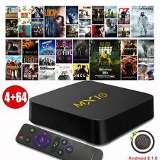 2018 MX10 4GB+64GB Android 8.1 Oreo TV BOX Quad Core USB 3.0 4K Media Player DE