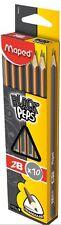 Maped Black Peps 2B Graphite Triangular Shaped Pencil 850083