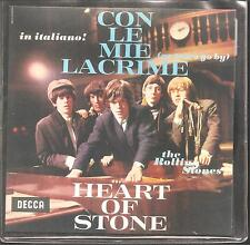 "Rolling STONES ""con le mie lacrime/Heart Of Stone"" 7 Inch Vinyl Single 2016"