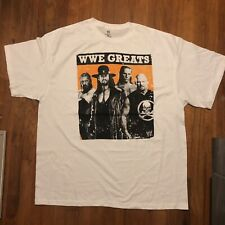 Rare 2012 WWE Greats Wrestling Mens 2XL White Tshirt S31