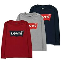 Boys Levis Long Sleeve Batwing Regular Casual T Shirt Sizes Age from 2 to 16 Yrs