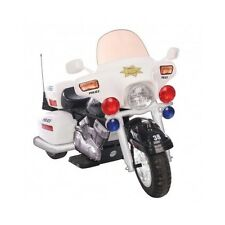 Kids Ride On Police Toy Motorcycle White Battery Operated Electric Bike 12V Car