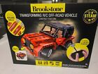 Brookstone BYO Remote Control RC Car Vehicle - Off-Road Truck! Red and white New