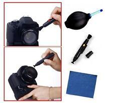 3En1 Lente Limpiador Limpieza Cámara Soplador Polvo Pen Paño Kit For DSLR VCR