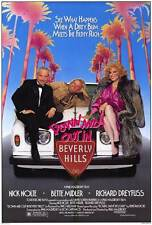 DOWN AND OUT IN BEVERLY HILLS Movie POSTER 27x40 Nick Nolte Bette Midler Richard