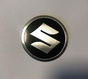 5.5cm Round S Emblem Aluminium Metal Sticker Badge For Suzuki Motorcycle