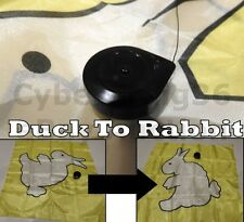 DUCK TO RABBIT SILK HANKY WITH REEL STAGE OR STREET KID MAGIC TRICK BUNNY EFFECT