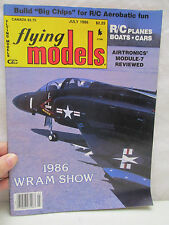 Flying Models Magazine July 1986 R/C Planes Boats Cars Airtronic's Module-7