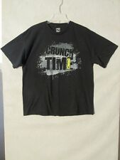 "S5939 ""Crunch Time"" Adult Large Black Graphic T-Shirt"