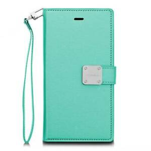 LG G Stylo 2 / Stylus 2 Plus - Teal Leather Card Wallet Diary Pouch Premium Case