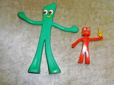 Playskool Prema Poseable Gumby 6 Inch & Blockhead 3 inch Figures Trendmasters
