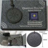 Quantum Pendant Necklace Scalar Orgon Energy neg ions EMF Protection Kit Black