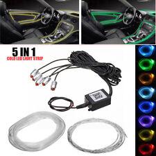 RGB 5 LED Car Door Dash Ambient Light Flash 6m Neon Strip Bluetooth APP Control