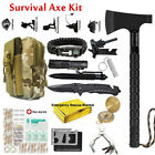 Outdoor Survival Gear Axe Set Tactical Tomahawk Multi Tools Camping Hiking Kit