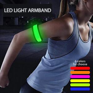 LED Light Safety Armband Night Glowing Leg Arm Running Riding Bicycle Wristband