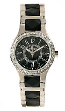 Chico's Women's Silver-Tone Crystal Bezel Bangle Watch CH-992. New and unworn.