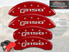 """2015-2019 Ford """"F150"""" Front + Rear Red MGP Brake Disc Caliper Covers Electric"""