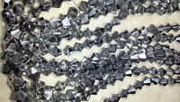 Joblot of 10 string Silver colour  6mm bicone shape Crystal beads  wholesale