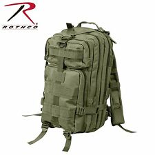 Rothco Medium Transport MOLLE Assault Pack Black/Olive Drab Back Pack