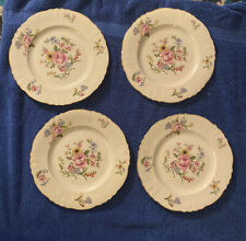 "Set of 4 Federal Shape Syracuse China Portland Pattern 10"" Dinner Plates. A+"