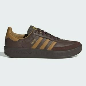 adidas Originals Madrid Vintage Retro Leather Shoes in Brown