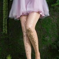 Sexy Women Mermaid Sequins Silk Stockings Tights Pantyhose Printed Long Hosiery
