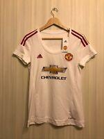 5+/5 LADIES Manchester United 2015/2016 away Size M Adidas shirt jersey women's