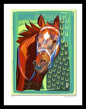 Inspired by Secretariat Triple Crown Champion Horse Racing Digitla Art SFASTUDIO