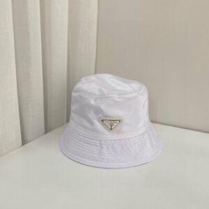 Hot White Nylon Bucket Hat Prada New With Tags