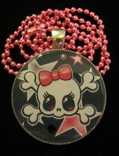 Day of the Dead Skull-Sugar Skull Skullette Necklace-Handmade Resin