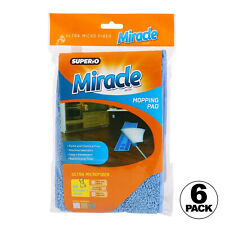 Superio Brand Ultra Microfiber Miracle Mopping Pad (6 PACK)