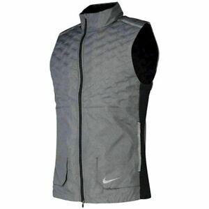 Nike Aeroloft Running Vest Grey Black BV4862-011 Men's Small S