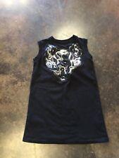 Christopher Kane black sweatshirt mini dress with cool textile art L