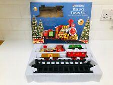 Weihnachten Werkstatt Deluxe Train Set mit realistischen Sound ~ Excellent in Box