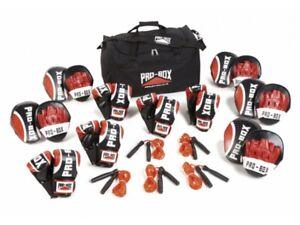 Pro Box Coaching Training Pack Boxing Instructor Set Boxercise Class Gloves Rope