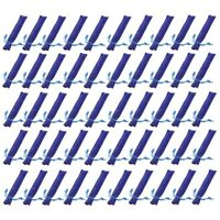 50 Pezzi di Velluto Blu Porta Penne Custodia Manica Singola Penna Sacchetto J6H1