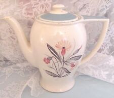 SUSIE COOPER VINTAGE COFFEE TEA POT Hand painted ENGLISH China PINK CAMPION HTF