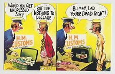 POSTCARD - saucy seaside comic, customs nothing to declare, Bamforth #1090