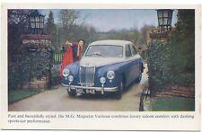 MG Magnette ZB Varitone Original Factory colour Postcard No Publication Number