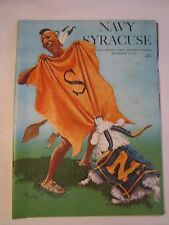 1971 NAVY VS SYRACUSE COLLEGE FOOTBALL GAME PROGRAM - TUB RU