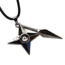 Anime NARUTO Shuriken & Kunai Pendant Metal Necklace Cosplay Gift New Fashion