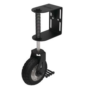 Heavy Duty Gate Wheel Caster Support Pneumatic Spring Loaded Swivel Fence New