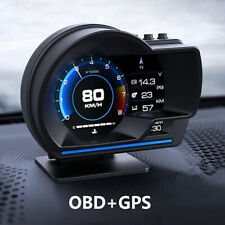 Car HUD Gauge GPS Smart Gauge Digital Speedometer OBD2 Fault Code Clear Meter