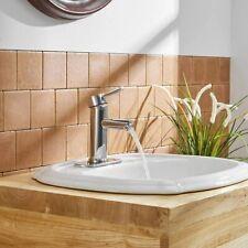 Commercial Single Handle Bathroom Sink Faucet One Hole Deck Mount Lavatory